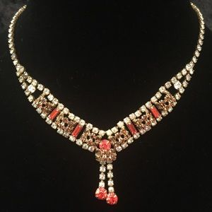 Fire and Ice Rhinestone Necklace C009